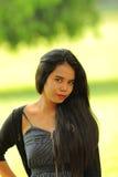 亚洲秀丽异乎寻常印度尼西亚青少年 免版税库存图片