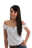 亚洲秀丽微笑的年轻人 图库摄影