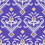 亚洲织品, ikat 无缝抽象的模式 库存例证