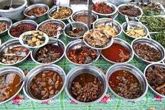 亚洲缅甸烹调咖喱食物缅甸仰光 免版税图库摄影