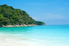 亚洲美丽的蓝色海运泰国 图库摄影
