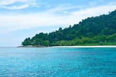亚洲美丽的蓝色海运泰国 免版税图库摄影