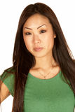 亚洲美丽的headshot妇女年轻人 图库摄影