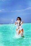 亚洲美好的方式女孩作用 库存照片