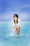 亚洲美好的方式女孩作用 免版税库存图片
