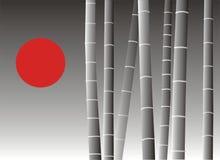 亚洲背景竹子 向量例证