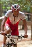 亚洲自行车冠军马来西亚山 库存照片