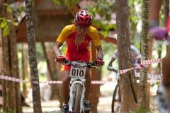 亚洲自行车冠军马来西亚山 库存图片