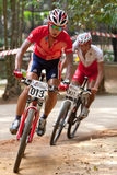 亚洲自行车冠军马来西亚山 免版税图库摄影