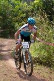 亚洲自行车冠军马来西亚山 免版税库存图片