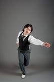 亚洲舞蹈演员爵士乐男 免版税库存照片
