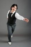 亚洲舞蹈演员爵士乐男 图库摄影