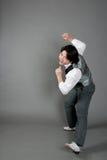 亚洲舞蹈演员爵士乐男 库存图片
