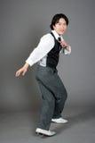 亚洲舞蹈演员爵士乐男 免版税库存图片