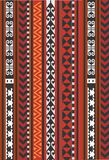 亚洲装饰地毯,红色和橙色,地毯 皇族释放例证