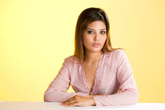 亚洲谦逊的回教妇女年轻人 库存照片