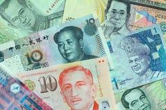 亚洲货币 免版税库存图片