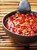 亚洲辣椒红色调味汁 免版税库存图片