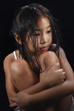 亚洲逗人喜爱的女孩 免版税库存照片