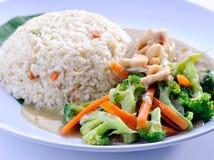 亚洲食物炒饭蔬菜 免版税库存照片