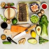 亚洲食物背景 免版税图库摄影