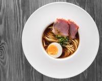 亚洲食物,汤面 免版税库存照片