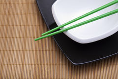 亚洲餐位餐具 免版税库存照片