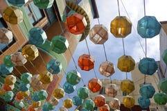 亚洲colorfull灯笼 库存图片
