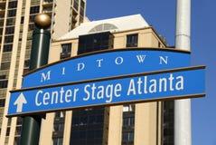 亚特兰大中心舞台 库存图片