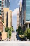 亚特兰大中间地区街道 免版税库存照片