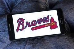 亚特兰大勇士棒球队商标 免版税库存图片