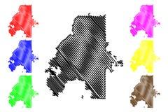 亚特兰大市地图传染媒介 向量例证