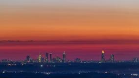 亚特兰大街市日落地平线 库存照片