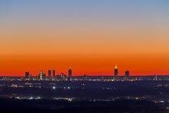 亚特兰大街市日落地平线 免版税库存图片