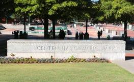 1996年亚特兰大被建立的百年目的地ga奥林匹克奥林匹克公园普遍的遗骸夏天是 库存图片