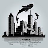 亚特兰大都市风景传染媒介 免版税库存照片