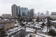 亚特兰大雪风暴 库存照片