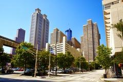 亚特兰大ga中间地区摩天大楼 免版税库存图片