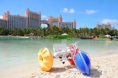 亚特兰提斯天堂海岛,巴哈马 库存图片