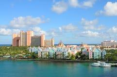 亚特兰提斯天堂海岛,巴哈马 库存照片