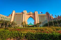 亚特兰提斯棕榈旅馆在迪拜,阿拉伯联合酋长国 免版税库存图片