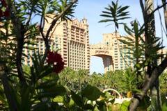 亚特兰提斯迪拜旅馆海岛jumeirah掌上型计算机 免版税库存图片