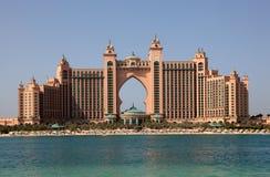 亚特兰提斯,掌上型计算机旅馆在迪拜 免版税库存照片