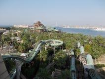 亚特兰提斯Waterpark -迪拜 免版税库存照片