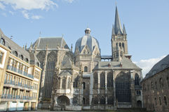 亚琛大教堂城市德国地标 免版税库存图片