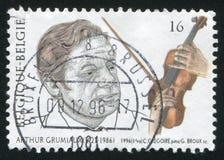 亚瑟・葛罗米欧小提琴手 免版税库存图片