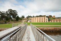 亚瑟有历史的监狱监狱端口视图 库存图片