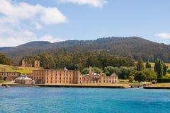 亚瑟有历史的端口监狱塔斯马尼亚岛 免版税库存照片