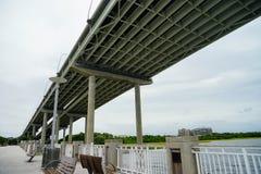 亚瑟桥梁查尔斯顿ravenel 库存图片