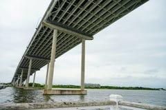 亚瑟桥梁查尔斯顿ravenel 免版税图库摄影